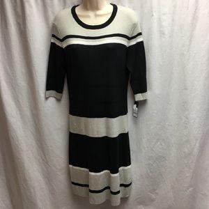 Mossimo Ribbed Dress Size 2XL Grey Black White NWT